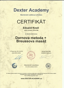 Certifikát Dornova meroda